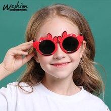 Детские солнцезащитные очки, поляризованные, детская форма медведя из мультфильма, оправа для мальчиков и девочек, круглые солнцезащитные очки, UV400, очки, оттенков, Gafas De So