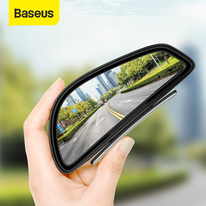 Baseus 2pcs Car Rear View Mirror Waterproof 360 Degree Wide Anger Parking Assitant Auto Rearview Safety Blind Spot Mirrors 1