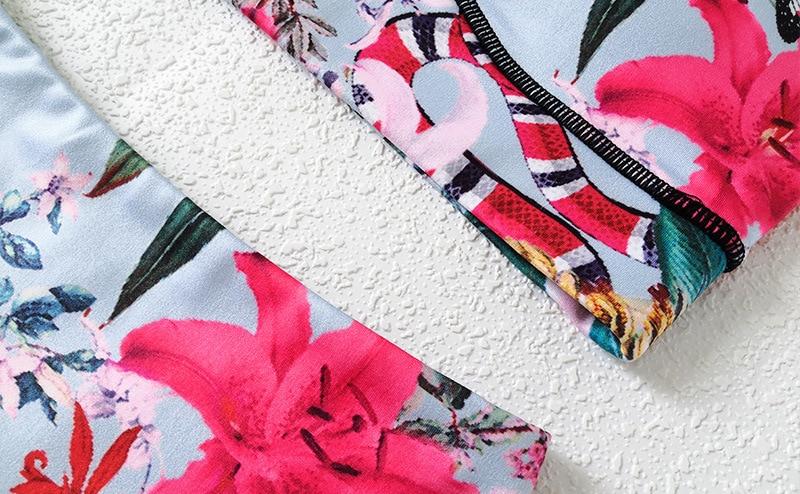 Floral Women's Yoga Bra Pants Sport Sets