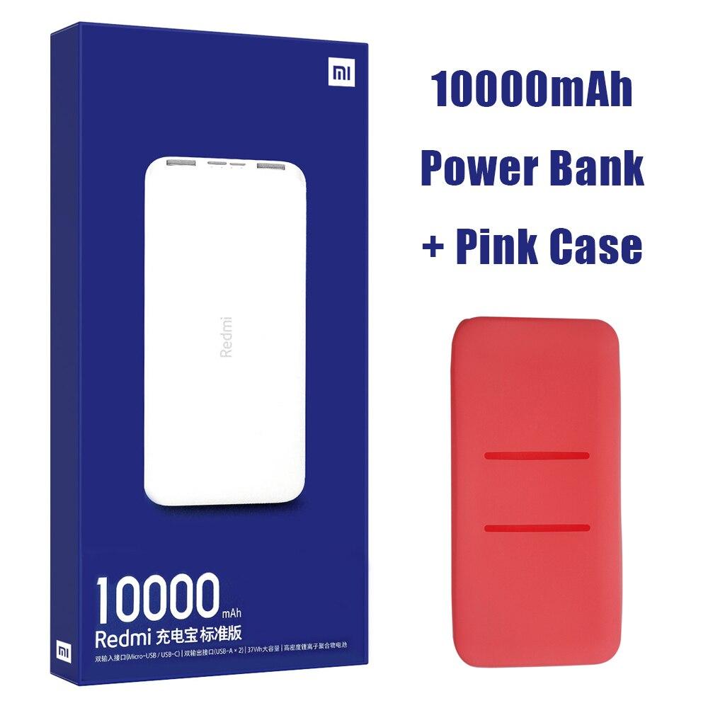 Новейший Xiaomi Redmi внешний аккумулятор 20000 мАч 18 Вт Быстрая зарядка 10000 мАч Внешний аккумулятор быстрая зарядка портативное зарядное устройство - Цвет: 10000mAh Add Pink