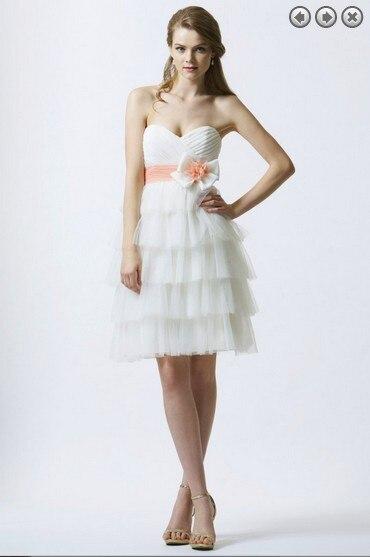 Free Shipping Hot 2016 Dinner Dress Vestidos De Fiesta Formal Dress Bride Plus Size Short Party Gowns White Bridesmaid Dresses