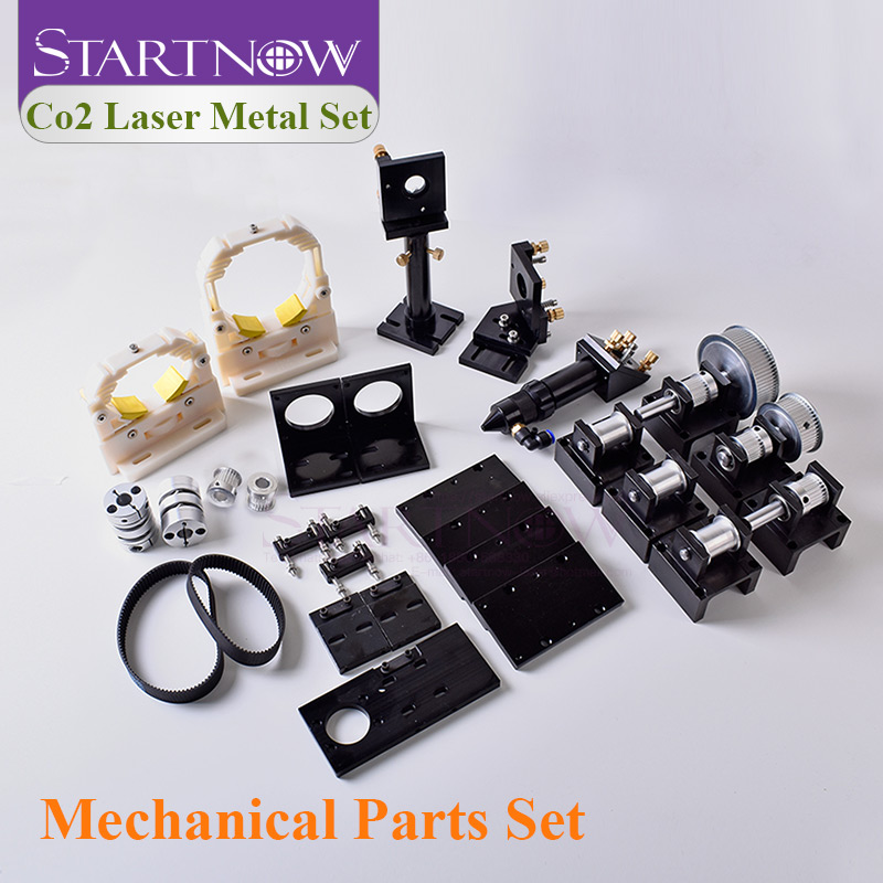 Startnow DIY Laser Transmission Hardware Tools Components For CO2 Engraver Machine Mechanical Kit CNC Cut Parts Laser Head Set