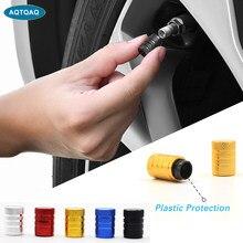 AQTQAQ 4 Pcs/Lot bouchons de soupape empêchent la Corrosion voiture capuchons anti-poussière universel en aluminium et en plastique roue pneu Air bouchons soupape tige couvre