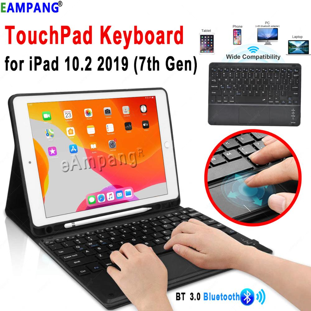 TouchPad Keyboard for iPad 10 2 2019 Keyboard Case for Apple iPad 7 8 7th 8th