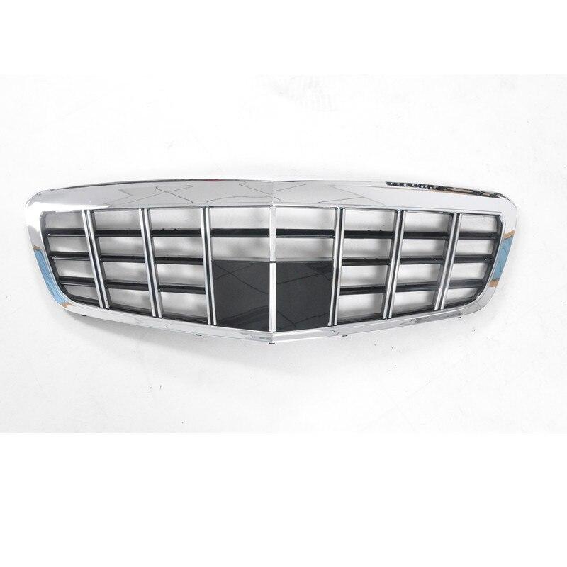 Car styling griglia Centrale per Mercedes-Benz S300 S350 S400 S500 W221 2009-2013 Maybach in plastica ABS GT griglia anteriore barra verticale