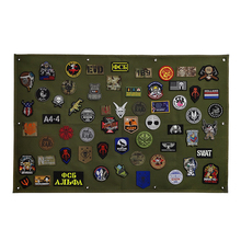 תיקון אחסון תצוגת לוח צבאי אוסף Armband גימור בד תג פוסטר שריון רקע DIY ניילון קיר תלוי