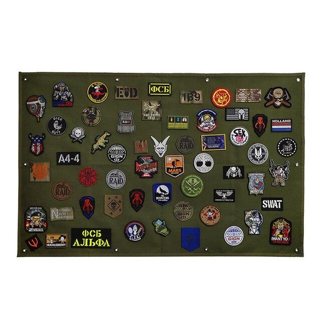 Patch stockage panneau daffichage militaire Collection brassard finition tissu Badge affiche armure fond bricolage Nylon tenture murale