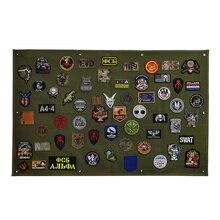 Remendo placa de exibição armazenamento coleção militar braçadeira acabamento pano emblema cartaz armadura fundo diy náilon parede pendurado