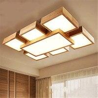 Nórdico Led5/7 Cabeça Luz de Teto Estilo Japonês High-End Faróis de Salão Simples de Madeira Maciça Sala de estar Em Casa madeira Luzes LED