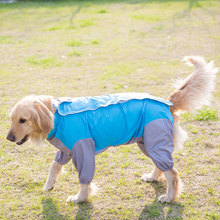 Whole Body Package Raincoat Waterproof Dog Four-legged Rain Coat Pet Clothes for Large-scale Dogs Such As Golden Retriever