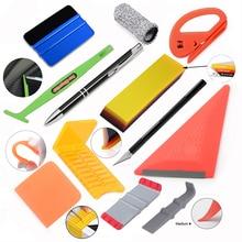FOSHIO 탄소 섬유 포장 도구 키트 자동차 용품 비닐 필름 스티커 랩 창 색조 자석 스퀴지 PPF 스크레이퍼 커터