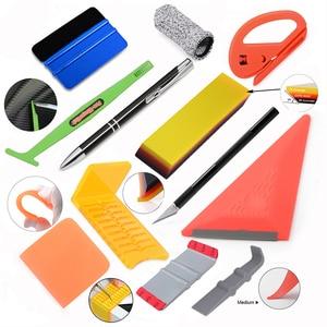 Image 1 - FOSHIO 탄소 섬유 포장 도구 키트 자동차 용품 비닐 필름 스티커 랩 창 색조 자석 스퀴지 PPF 스크레이퍼 커터