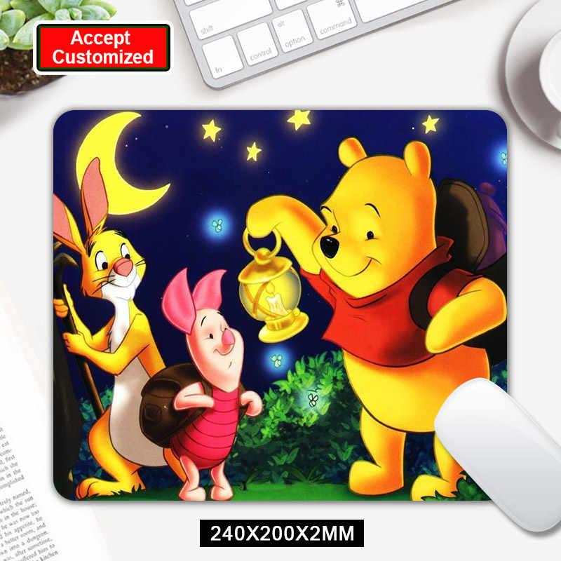 Tapis de souris ours Winnie ourson impression de luxe antidérapant tapis de souris en caoutchouc Durable pour souris optique PC