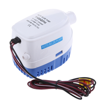 12V 1100GPH Automatic Submersible Yacht Bilge Water Pump Auto & Float Switch