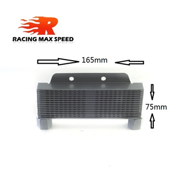 цена на Aluminum Universal  Motorcycle  Multi storey oil cooler 165 mm silver&black  SO-06