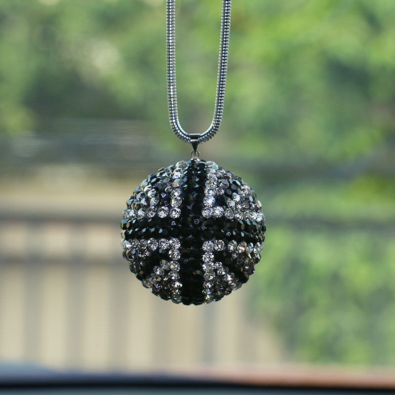 1pcs-Car-Crystal-Ball-Pendant-British-flag-Car-interior-decoration-Car-rearview-mirror-car-accessories-for