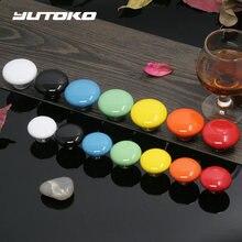 Yutoko круглые мебельные керамические ручки для шкафчиков ящика