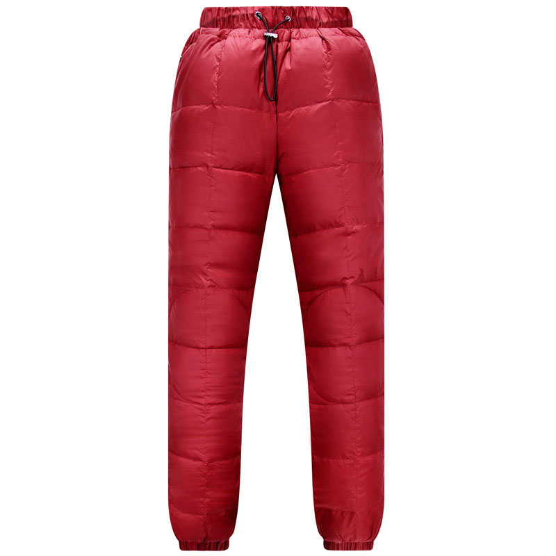 New Hot Sale Women Outdoor Warm Elasticity Down Pants Winter Windproof Waterproof Ski Pants Camping Hiking Trekking Trousers