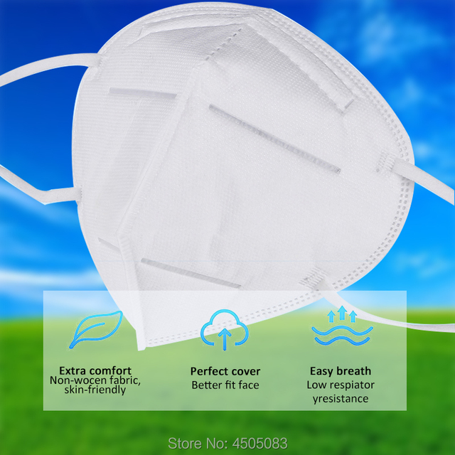 Disposable mouth caps Men Women KN95 mask   Cotton Anti Dust Mouth Mask Windproof Mouth-muffle  Proof Flu Face Masks 1