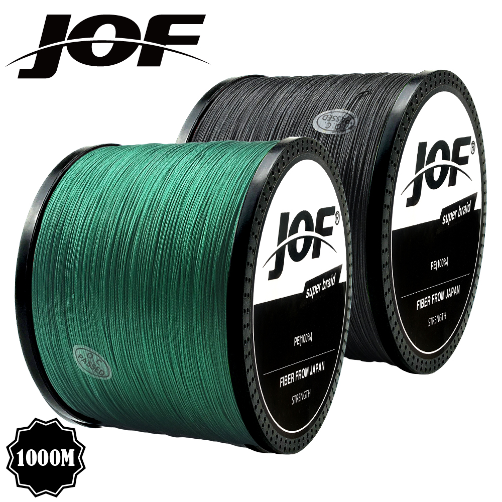 JOF Braid Fishing Line 300M 500M 1000M 4 Strands Multifilament Fishing Wire Carp Fishing 10-82lb