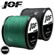 JOF 브레이드 낚시 라인 300M 500M 1000M 4 가닥 Multifilament 낚시 와이어 잉어 낚시 10-82lb