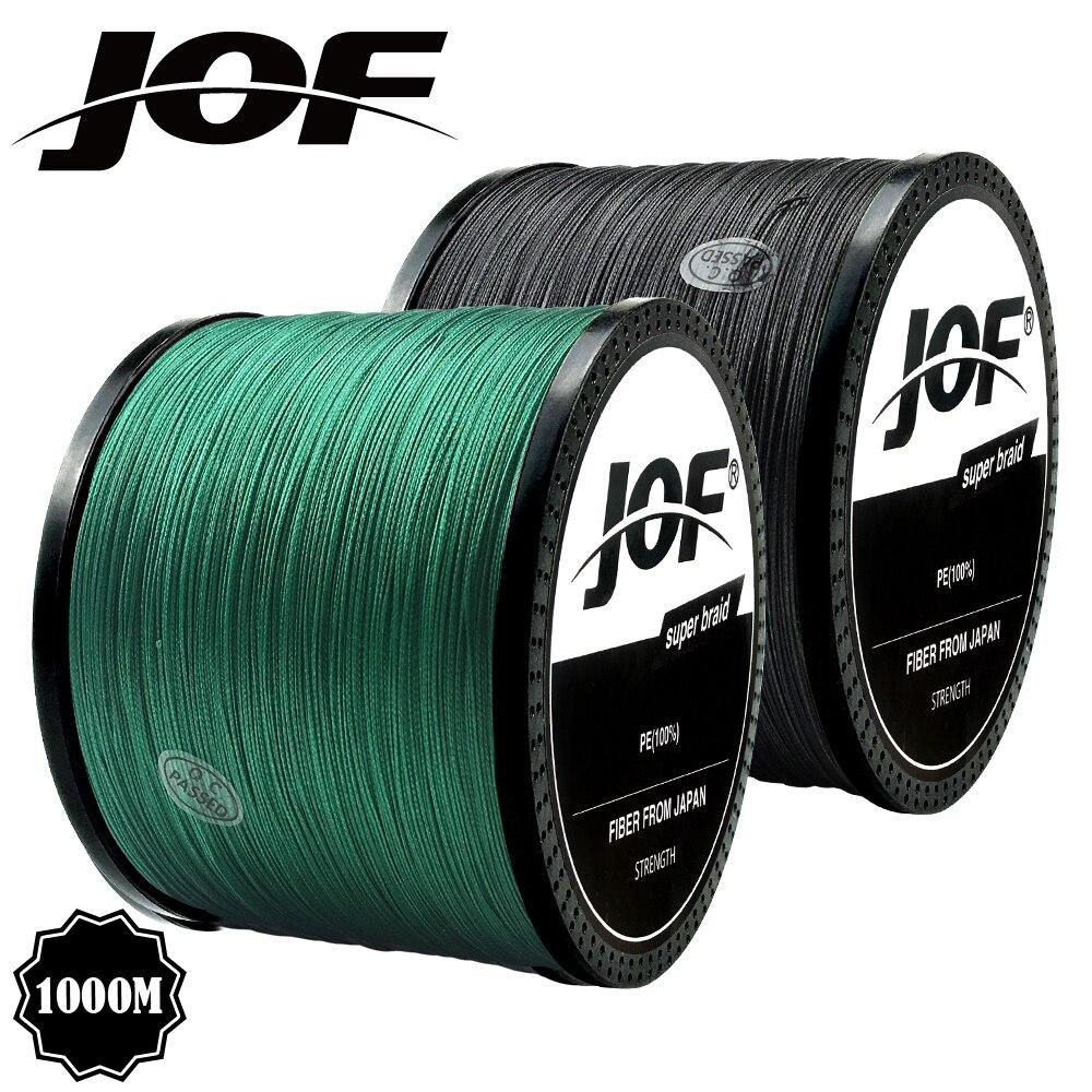 Jof trança linha de pesca 300m 500m 1000m 4 fios fio de pesca multifilamento carpa pesca 10-82lb