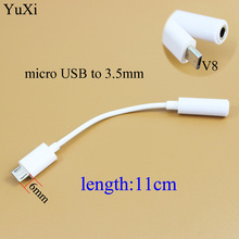 цена на YuXi Android Audio Adapter Cable V8 Turn 3. 5mm Audio Cable Micro Android Turn 3.5 Mother Audio Adapter