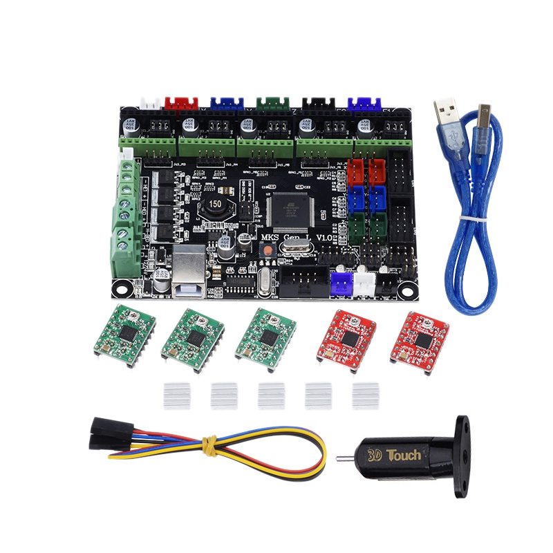 <font><b>3D</b></font> Printer Kit MKS GEN L Integrated Mainboard A4988 Driver+<font><b>3D</b></font> Contact BLContact Sensor for <font><b>TEVO</b></font> Tarantula <font><b>Tornado</b></font> <font><b>3D</b></font> Printer DIY image