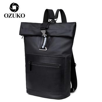 OZUKO Male Backpack Large Capacity Bag Pack Casual Travel Laptop Bags for Men Unisex Waterproof Backpacks Schoolbag Mochilas
