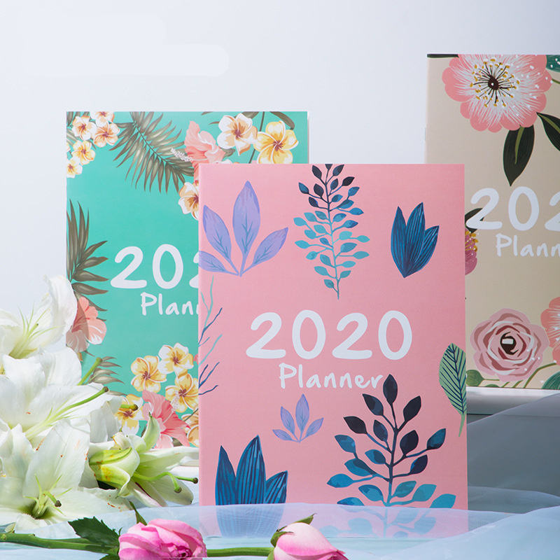 Planner 2020 Agenda A4 Annual Monthly Daily Plan DIY Notebook School Supplies Stationery Organizer Management Office Schedule