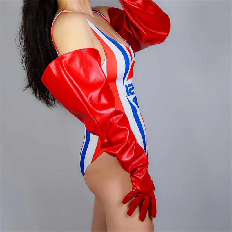 2020 NEW Oversized Long Gloves 70cm Large Sleeve Wide Cuff Simulation Leather Red Male Female Patent PU Leather Gloves PU176