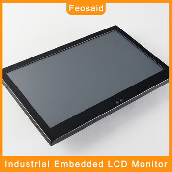 Feosaid 14 15.6 inch Industrial LCD display 18.5 17.3 Embedded Tablet Monitor Resistance Touch VGA DVI input for Computer 19 21 5 23 6 inch monitor vga dvi resistance usb touch lcd computer display screen open frame computer monitor screen 1440 900