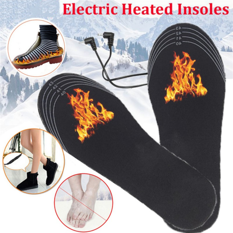 35-44 USB Electric Heated Insoles Women Men Heating Shoe Insole Winter Warm Insoles For Shoes Boots Heater Warm Foot Pads Insert