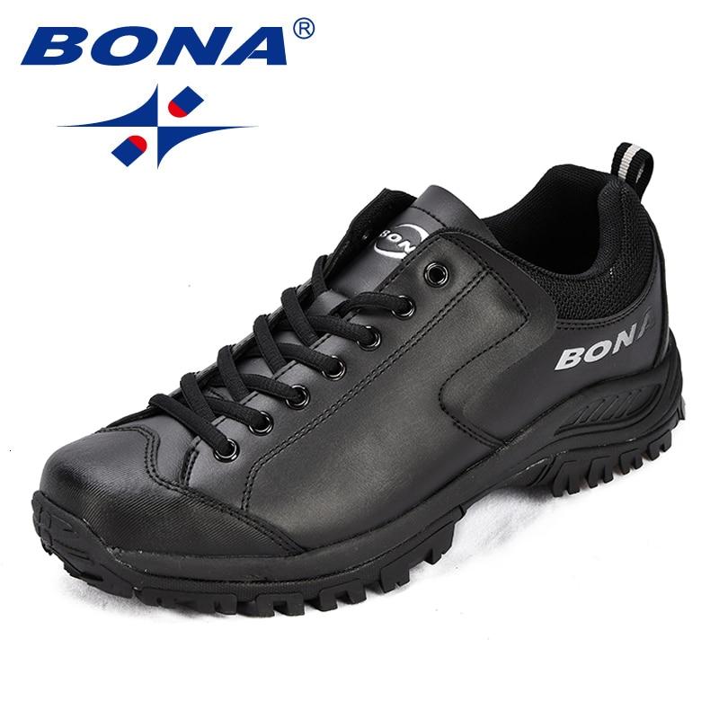 BONA/Новинка; мужские треккинговые ботинки из водонепроницаемой кожи; Мужская Спортивная обувь; обувь для бега на открытом воздухе; удобные