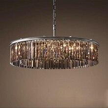 Lámpara colgante de cristal de lujo para sala de estar, comedor, restaurante y cafetería