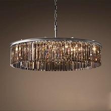 Luxo cristal pendurado luminária redonda luminária lustre de cristal gota lâmpada para sala estar jantar restaurante café