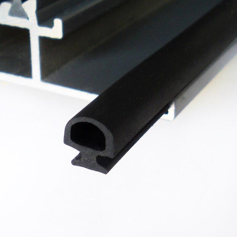 5 Meters Bottom Width 5/6/7mm Rubber Sealing Strip Aluminum Casement Door Window Weatherstrip