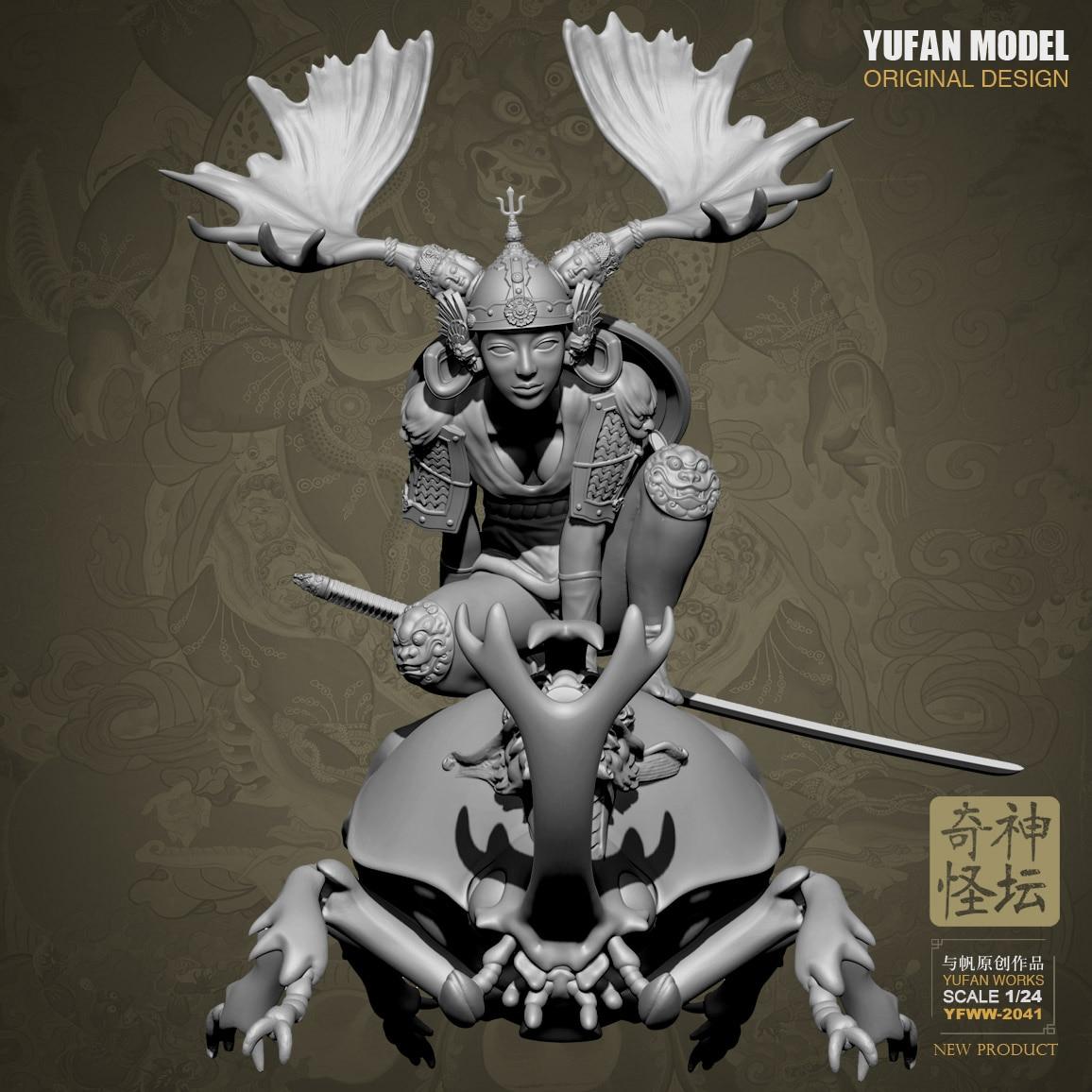 1/24 YUFAN Model Resin Kit Resin Odd Fantasy Altar JieShan Women, Soldiers Were YFWW-2041