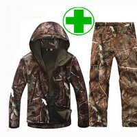 Hombre chaquetas impermeables para exteriores bit V 5,0 XS Softshell traje de caza ropa térmica táctica Camping senderismo respiración traje deportivo