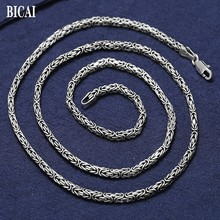 Pure Silver Necklace Handmade New S925 Men for Man Domineering Personality Couples' 100%Real