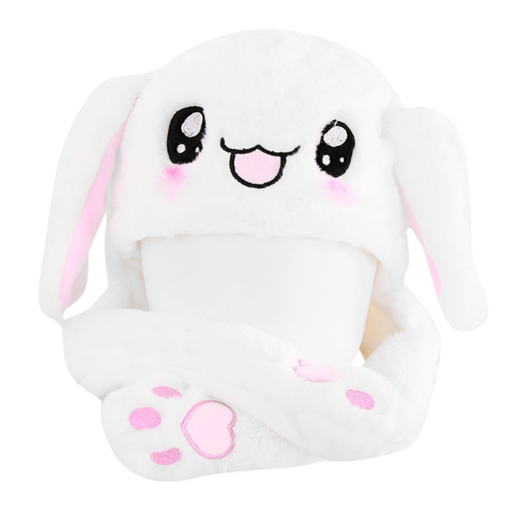 Drop Ship Hot Novelty Magic Rabbit Hat With Moving Ear Plush Toy Gift Kids Velvet Toy Party Gifts For Children