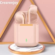 TWS-наушники J18 розовые с поддержкой Bluetooth и Hi-Fi-звуком