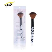 купить YALIAO Spot Blush Brush Corrugated Nylon Wool Plastic Face Cheek Contour Cosmetic Powder Foundation Professional Blush Brush дешево