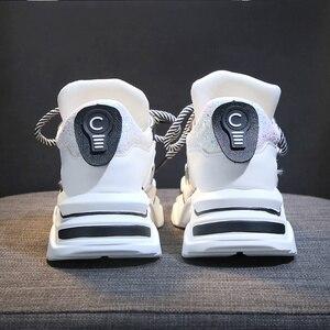 Image 5 - TKN امرأة منصة حذاء كاجوال السيدات شقة مكتنزة أحذية رياضية النساء أحذية جلدية صف 2019 zapatillas plataforma mujer X568