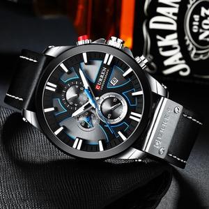 Image 3 - นาฬิกา CURREN Big Dial นาฬิกาผู้ชาย 2019 Chronograph SPORT นาฬิกาผู้ชายออกแบบสร้างสรรค์ด้วยวันที่ชายนาฬิกาข้อมือสแตนเลส