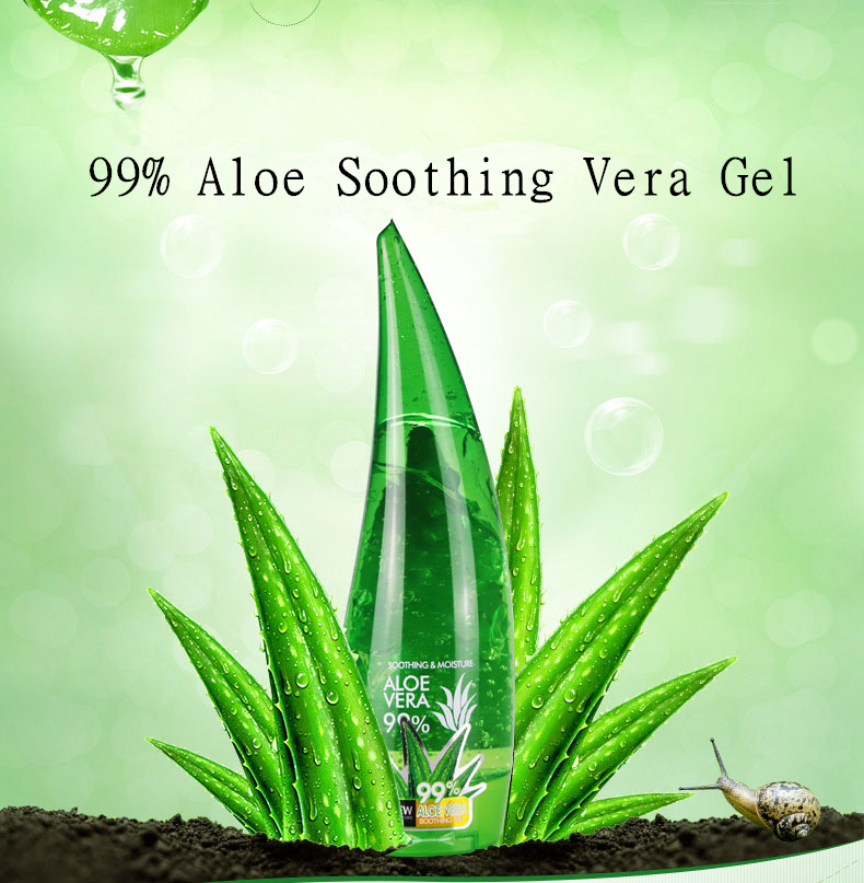 120ml NEW Brand 99% Aloe Sunscreen Skin Acne Vera Aloe Cosmetics GelGel Cream Care Soothing Moisturizing Gel Soothing Day Remove