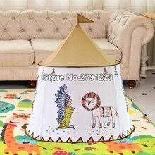 Дворовая детская палатка дом портативный Замок принцессы 123*116 см подарок висящий флаг детская палатка игровая палатка День рождения Рождественский подарок