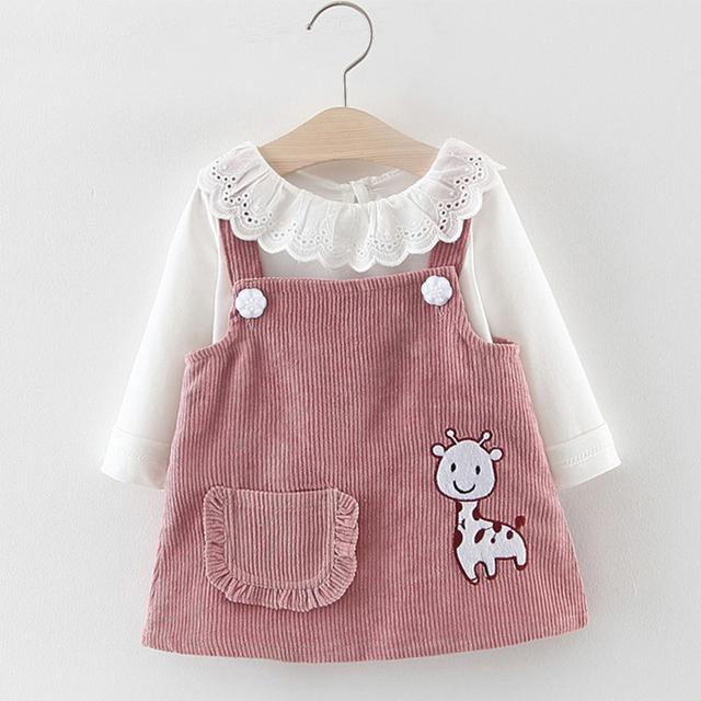 Long Sleeve 2pcs Princess Suit for 6M-24M Baby Girls