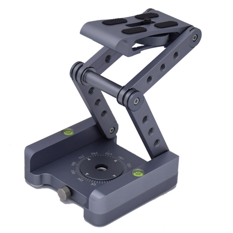 Z-Shaped Flex Tilt Tripod Head Folding Z Tilt Head 360 Rotary Quick Release Plate For Nikon Canon Sony Pentax Dslr Camera