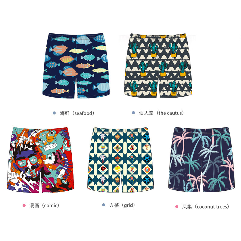 Bobby Tao Childrenswear 2019 Beach Shorts Middle And Large Men And Women Children Short Cartoon Casual Shorts Pants Breathable Q